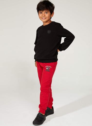 DeFacto Baskılı Slim Fit Jogger Pantolon Kırmızı